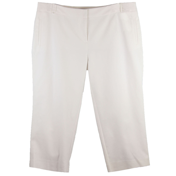 Charter Club Pants - 22w White Tummy Slimming Classic Fit Capri Pants